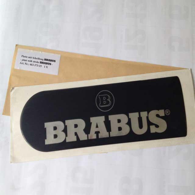 BRABUS スペアタイヤカバーエンブレムGクラス用_01